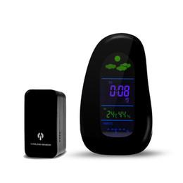 Freeshipping Digital Cobblestone LED inalámbrico estación meteorológica termómetro temperatura humedad despertador con RF Remote Sensor desde fabricantes