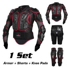 Wholesale Motorcycle Racing Body Protector - Motorcycle Motocross Off-Road Enduro ATV Racing Full Body Protective Gear Protector Armor Jacket + Hip Pads Shorts + Knee Pads