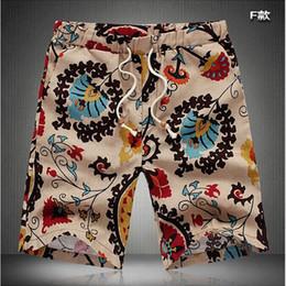 f187759ead01 Wholesale-TFGS Summer Men Short Pants Casual Shorts Trousers Slim Fit  Cotton Vintage Flower Print Men s Beach Shorts