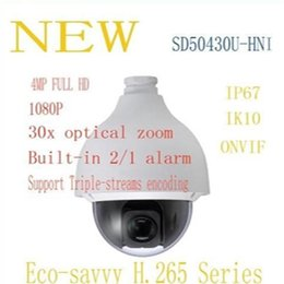 Wholesale Waterproof Ptz Dome Ip Camera - DAHUA Security IP Camera 4MP Full HD 30x WDR Ultra-high Speed Network PTZ Dome Camera IP66 IK10 without Logo SD50430U-HNI