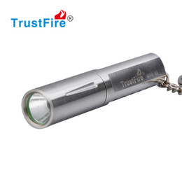 Wholesale Self Warming - Best Gift Present KEY Chain LED Flashlght Stainless Steel Mini Camping Flashlight 10440 Rechargeable Torch Keychain Kids Play Toy Waterproof