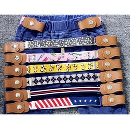 Wholesale Coloured Belts Leather - Wholesale- 2017 new hot new children elastic belt pants for girls and boys anti deduction belt baby nursery essential 16 Colour