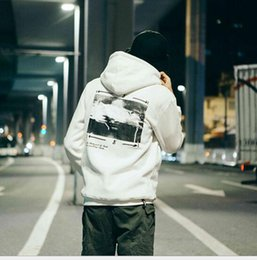 Wholesale White Letter Transfers - 2017 Europe and the United States wind men's tide of Hong Kong Aberdeen style hooded sweater men leisure heat transfer coat winter welcome c