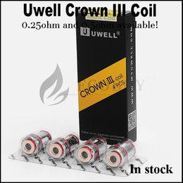 Wholesale V3 Atomizer Head - 100% Original Uwell Crown 3 Tank replacement Coils head .5ohm .25ohm crown III coil for authentic uwell crown3 atomizer crown V3 tanks