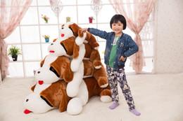 Wholesale giant stuff dog toys - 80Cm Large Animal Shar Pei Dog Plush Toys Giant Stuffed Cartoon Dog Shape Pillow High Quality Kids Present