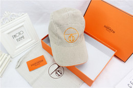 Wholesale New Hat Boxes - New packaging high quality fashion H pattern caps outdoor sports leisure baseball cap high-end brand hats designer hat with box