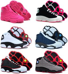 Wholesale Green Lifestyle - Air retro 13 Bred Chicago Flints women basketball shoes DMP Grey Toe History Of Flight All Star cheap sneakers size 5.5-8.5