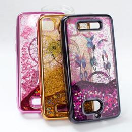 Wholesale Lg Star Cover - For LG Aristo LV3 V3 MS210 LG K20 plus LV5 V5 MetroPCS Colorful Moving Shining Stars Liquid Glitter Quicksand Phone Case Cover B