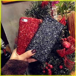 Wholesale Free Sparkles - For iphone7   6s Sparkling Phone Case Sequins Luxury Shell Wholesale with Retail Bag via Free Shipping