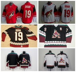 Wholesale Roenick Jersey - Arizona Coyotes 19 Shane Doan Red White Men's Black Classic CCM Throwback Vintage Blank #97 Jeremy Roenick Jersey Embroidery Sewing Logos