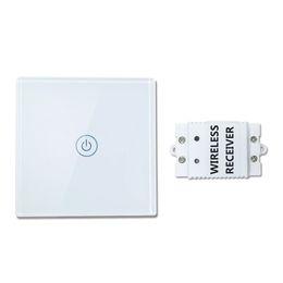 Wholesale Led Wall Light Kit - Saful Wireless Smart Control Switch Light Wall Light Touch Switch Glass Panel LED Indicator Smart Home Control Wall Switch TS-W433