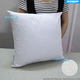 Wholesale Drawing Canvas - (10 Pieces Lot) Sell 8 oz Canvas Pillow Case Plain Raw Cotton Blank Pillow Cover For Hand Drawing Embroidery Printed Blank Cushion Cover