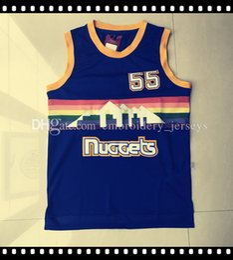 Wholesale Rainbow Men - Wholesale Retro Men's #55 Dikembe Mutombo Basketball Jersey Throwback Rainbow Edition jerseys Adult Embroidery Logos Fast free shipping