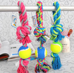 Wholesale Large Rope Balls - Cotton Meteria Colorful Rope With Ball Pet Toy Cat Dog Chew Teethers For Cleaning Teeth Good Quality For Middle Large Pets Size 8PCS LOT