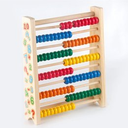 Wholesale Bead Educational - Montessori Educational Wooden Abacus 100 Beads Baby Toy Early Childhood Preschool Training Counting Number Frame Maths Aid Arithmetical Rack