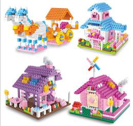 2019 jouets de maison de princesse Cadeaux de diamants exquis petites particules assemblage de la maison de princesse maison jouets éducatifs pour enfants YH526 jouets de maison de princesse pas cher