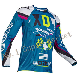 Wholesale Dh Mtb - 2017 Free Shipping Men Motorcycle Motorbike T-shirt Motocross Jersey for MTB DH MX Bicycle Cycling Jersey MX Off Road Shirt