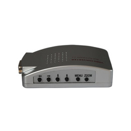 Wholesale Tv System Converter Pal Ntsc - Wholesale-High Quality Universal PC to TV VGA TO AV RCA Signal Adapter Converter Video Switch Box Supports NTSC PAL system