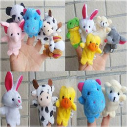 Wholesale Doll Ceramic - Spot wholesale plush doll with foot finger puppet cartoon animal finger puppets plush toys, children's educational toys