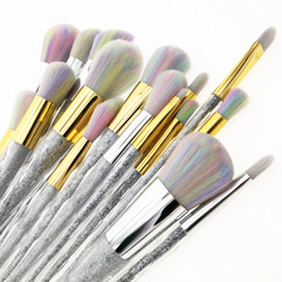 Wholesale Face Clear - unicorn rainbow makeup brush set 5pcs 7pcs 10pcs face & eye professional make up brush kit tools.