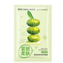 Wholesale Olive Oil Skin Care - BISUTANG Olive oil Facial Face Mask Hydrating Shrink Pores mask peels whitening Tightening Brightening Skin care pilaten tony moly cosmetics