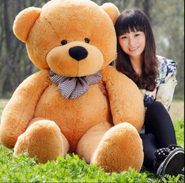 Wholesale Low Price Giant Stuffed Bears - Lowest Price Giant Teddy Bear BOYDS Hot Sale! Big1.2m Teddy Bear 3-color PP otton Gifts Stuffed Bears Plush Toys Valentine's day gifts
