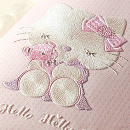 Wholesale Wallpapers For Baby Girls Room - Children's Room Wallpaper For Walls 3 D Stereo Embossed Cartoon Cat Non-woven Wallpaper Cute Baby Room Girl Bedroom Wall Paper