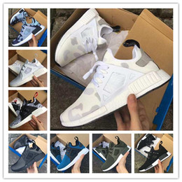 Wholesale New Shoes For Army - (With Box) Hot New Arrival NMD XR1 Boost Duck Camo Navy White Army Green Top quality MND III Net Surface Running Shoes For men Free Shipping