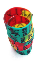 Wholesale Silicone Bracelet Energy New - 2017 new Bob Marley extra wide sports wristbands with 100% silicone Gym Fitness Power Bracelet with energy free shipping wholesale 50pcs