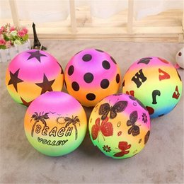 Wholesale Pool Game Play - 22cm Beach Ball Kids Games Thicken PVC Inflatable Pool Toys Ball Outdoor Play Sport Toys Kids Gift