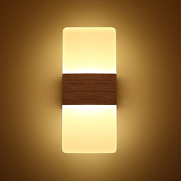 Wholesale Sconces Up Down - 2PC Modern Acrylic 12W LED Wall Sconces Aluminum Light Fixture Up and Down Light Decorative Lamp Night Light for Pathway, Staircase, Bedroom