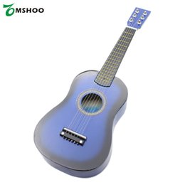 "Wholesale Acoustic Guitar Plectrum - Wholesale- High Quality 23"" Mini Guitar Guitarra Basswood Acoustic Guitar Kid's Musical Toy Stringed Instrument with Plectrum 1st String"