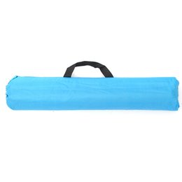 Wholesale Fiberglass Cloths - Wholesale- Outdoor Beach Fishing Tents Silver Polyester And Polyester Cloth Blue Sun Shade Shelter Camping Fishing Tent