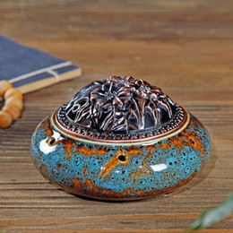Wholesale Sand Disc - Wholesale- 2016 new ceramic incense Buddha incense burner Buddhism creative sand disc