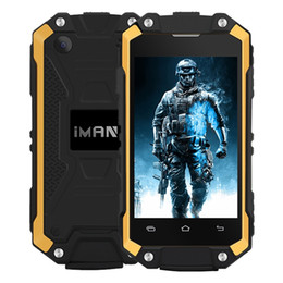 Wholesale Touch Screen Ip65 - IMAN X2 3G Rugged Smartphone 2.45 Inch Android 5.1 Quad Core 1GB RAM 8GB ROM 2MP Camera 1050mAh IP65 Waterproof Dustproof