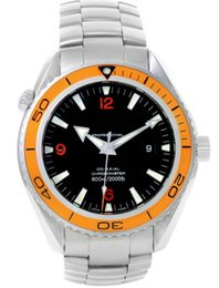 Planète orange orange lunette automatique en Ligne-Marque automatique de luxe AAA Planet Ocean XL Orange Lunette Mens automatique Montre 2208.50.00 Bracelet en acier inoxydable Mens Sport Wrist Watches