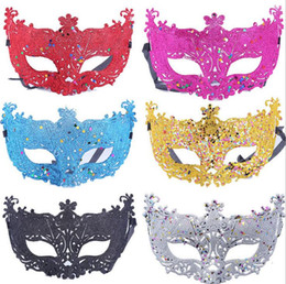 Wholesale Wedding Ordering Supplies - The new hollow small fox gold powder chip high - end fancy dress show mask wedding photography supplies PH043 mix order as your needs
