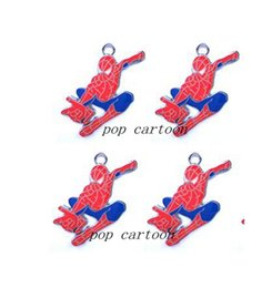 Wholesale Spiderman Charms - New spiderman Squirrel Metal Charm pendants Jewelry Making Party Gifts xitie232