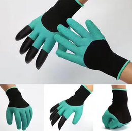 Водонепроницаемые садовые перчатки онлайн-Сад Джинн перчатки с кончиками пальцев когти зеленый копать и растений безопасная обрезка сад водонепроницаемый копать садовые принадлежности перчатки