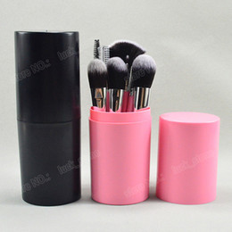 Wholesale Hair Functions - 12pcs makeup brushes cup holder safty way dusty fee package 12 function brush for eyeshadow,lipstick,fondation welcome free OEM order