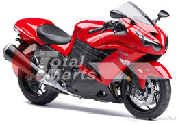 Wholesale Zx14 Fairings - Fairing For Ninja ZX14R ZX14 ZX1400 ZZR1400 2012 2013 12 13 Injection ABS Red F1316C