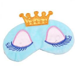 Спящие маски с завязанными глазами онлайн-Прекрасная принцесса Корона фантазии глаза обложка путешествия спать с завязанными глазами тени маски мультфильм длинные ресницы с завязанными глазами тени для век