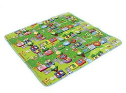 Wholesale Wholesale Carpet Pad - Wholesale- 2015 Hot Sale Environmentally Foam Zoo Numbers Play Mat Puzzle Floor Mats Baby Carpet Pad Toys For Kids Rug Toy 270369