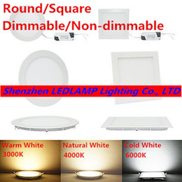 Wholesale Design Led Panel Light - Wholesale- Ultra thin design 25W LED ceiling recessed grid downlight   round or square panel light 225mm, 1pc lot free shipping