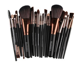 Wholesale 22pcs Makeup Brushes - 22pcs Set Maange Makeup Brushes Sets Professional Brushes Set Cosmetics Brand Foundation Brush Tools For Face Makeup Beauty Free DHL 160923