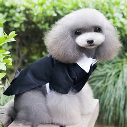 Wholesale Pet Apparel For Large Dogs - Pets Apparel Dogs Suit Formal Costumes Cute Pet Supplies For Wedding Parties Christmas Decoration 6 Sizes Black Suits