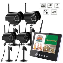 """Wholesale wireless security dvr system - 2.4 G 9"""" LCD DVR Wireless Security Surveillance System with 4 Cameras CCTV"""