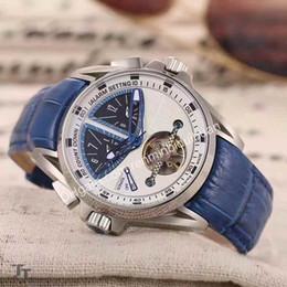 Wholesale Mechanical Tourbillon - Swiss luxury brand fashion wistwatch leather strap automatic mechanical tourbillon business watch high quality sports men's watches