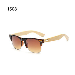 Wholesale Cheap Bamboo Sunglasses - Cheap bamboo sunglasses women men brand designer 2016 UV400 sport glasses lunette de soleil homme marque