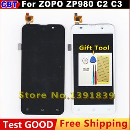 Wholesale Zopo C2 Screen - Wholesale- For zopo zp980 zp980+ c2 c3 LCD Display + Touch Screen Assemble Replacement For zopo zp980 c2 LCD Screen + free shipping
